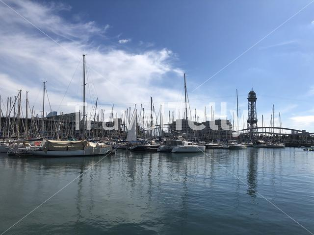 Harbor in Barcelona Spain