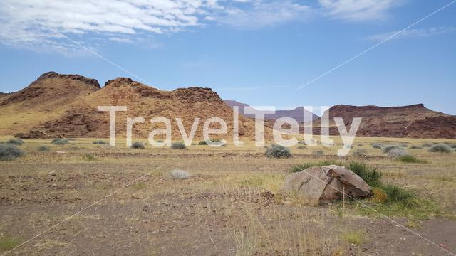 Scenery at Damaraland Aba huab riverbed in Namibia