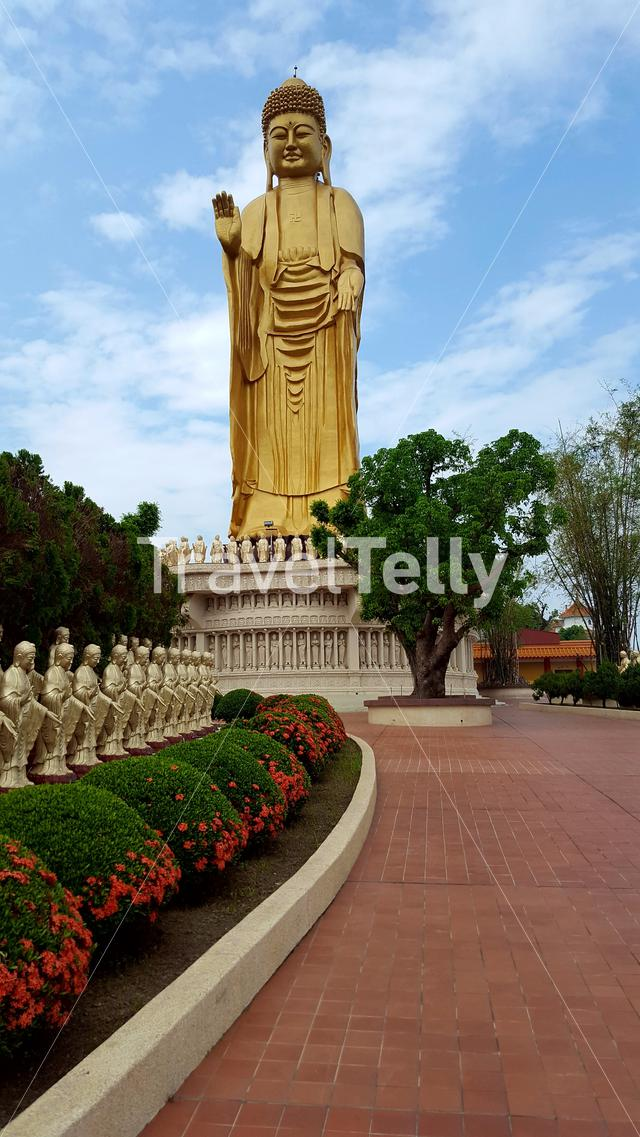 Buddha statue at the Fo Guang Shan monastery in Kaohsiung Taiwan