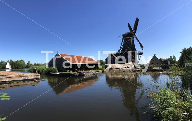 Windmill the Rat in IJlst Friesland The Netherlands