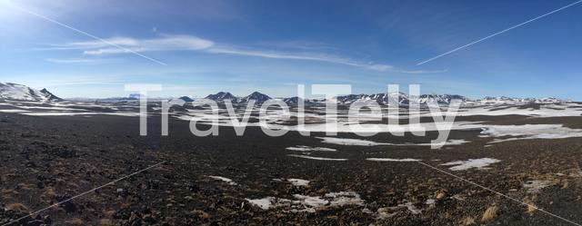 Mountain range landscape panorama in Iceland