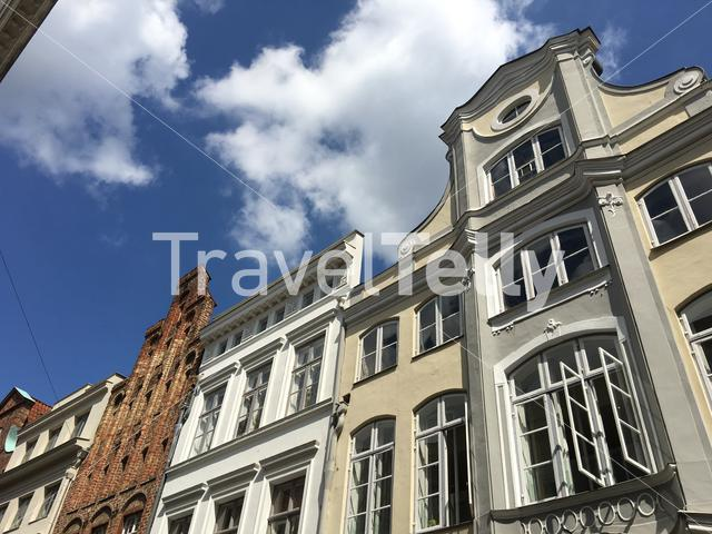 Buildings in the old town of Lübeck Germany