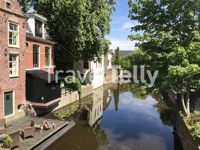 Canal in Appingedam The Netherlands