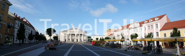 Panorama from the Town Hall Square in Vilnius Lithuania