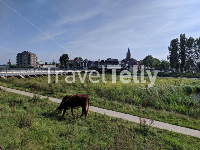Road towards the city centre of Hardenberg Overijssel, The Netherlands