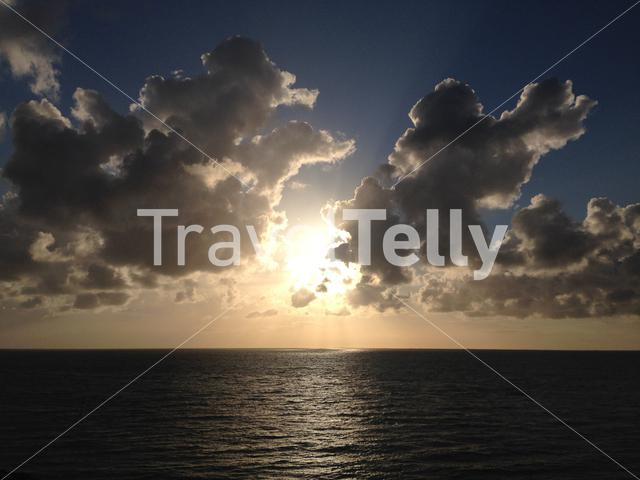Sunset at the Waddensea in The Netherlands