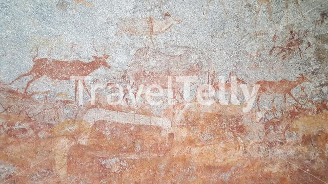 Rock art at Matobo National Park in Zimbabwe