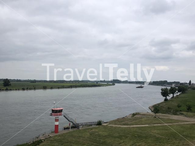 The river Rhein around Wesel in Germany