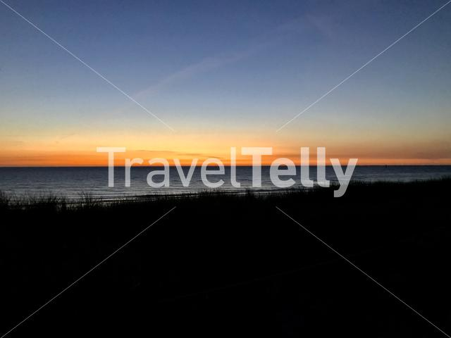 Colorful sky at sunset, Texel