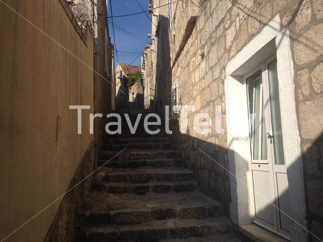 Narrow street of the Old town of Cavtat Croatia