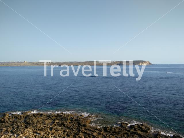 View of Comino from room in Ramblay Bay Resort