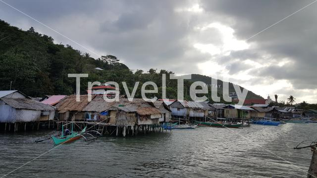 Pole houses in TayTay, Philippines