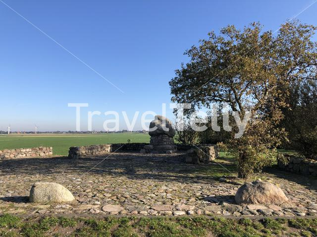 Monument at Rode Klif in Warns Friesland The Netherlands