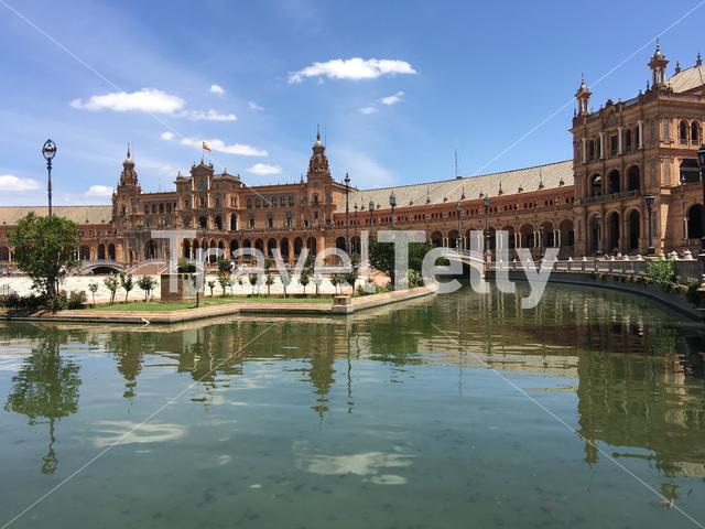 Plaza de España in Seville Spain