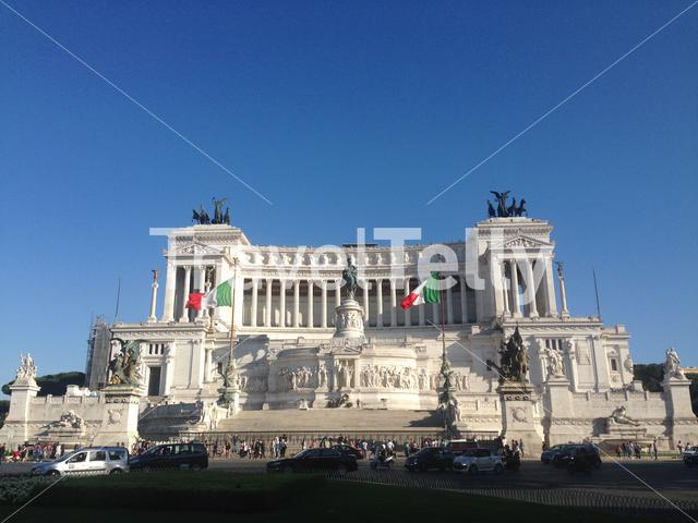 Piazza Venezia and Altar of the Fatherland in Rome Italy