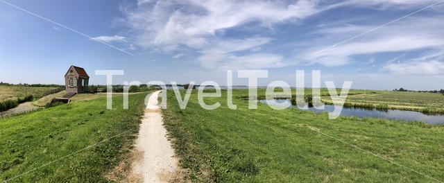 Panorama from It gemaaltsje at Oosterzee Friesland The Netherlands