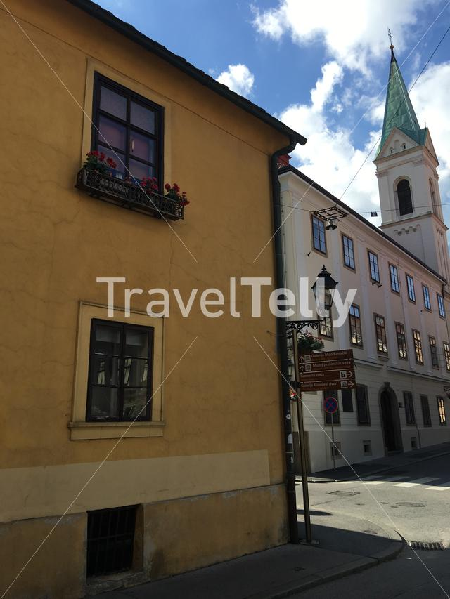 Cathedral Saint Cyril and Methodius in the old town of Zagreb Croatia
