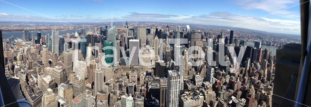 Panorama from Manhattan New York City