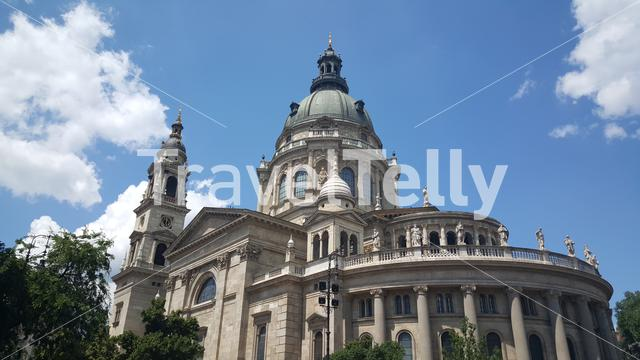 Back side from the St. Stephen's Basilica in Budapest Hungary