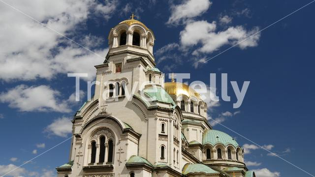 The St. Alexander Nevsky Cathedral a Bulgarian Orthodox cathedral in Sofia Bulgaria