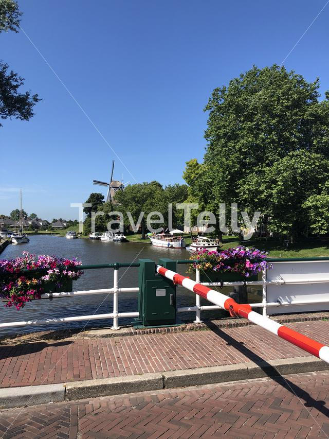 Canal in Dokkum, Friesland The Netherlands