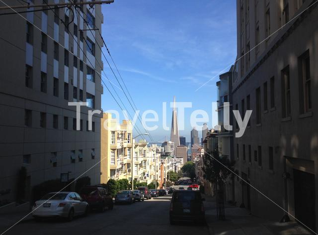 The Transamerica Pyramid is the tallest skyscraper in the San Francisco skyline