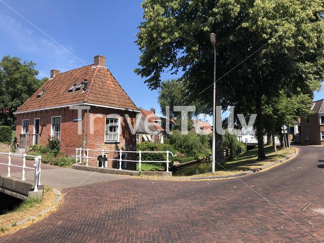 Architecture in the old town of Dokkum, Friesland The Netherlands