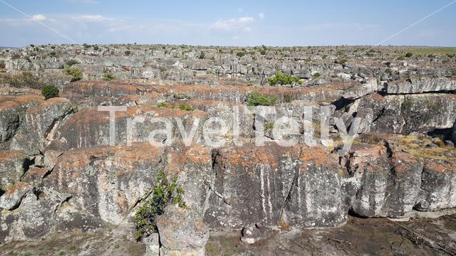 Rocky landscape around Tundavala Gap in Angola