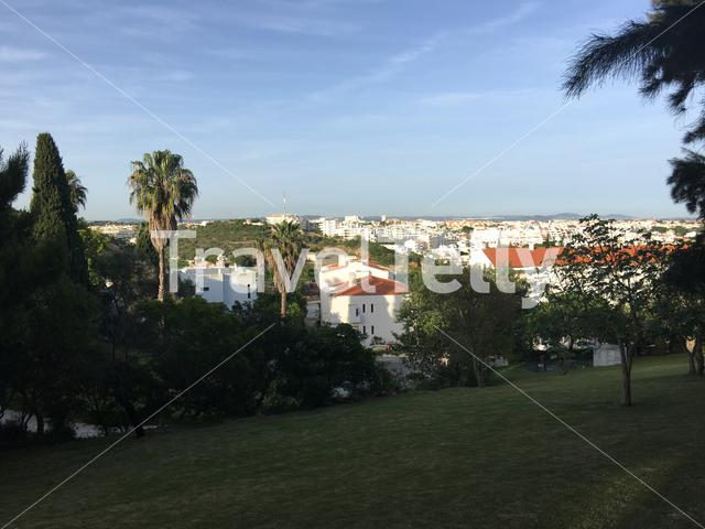 Albufeira city view in Portugal