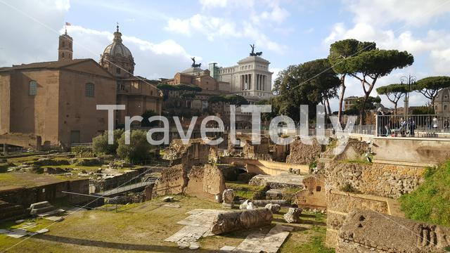 Santi Luca e Martina church and the Roman Forum in Rome Italy