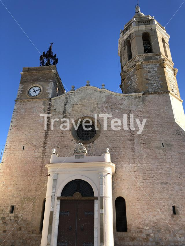 The Church of Sant Bartomeu & Santa Tecla in Sitges, Spain