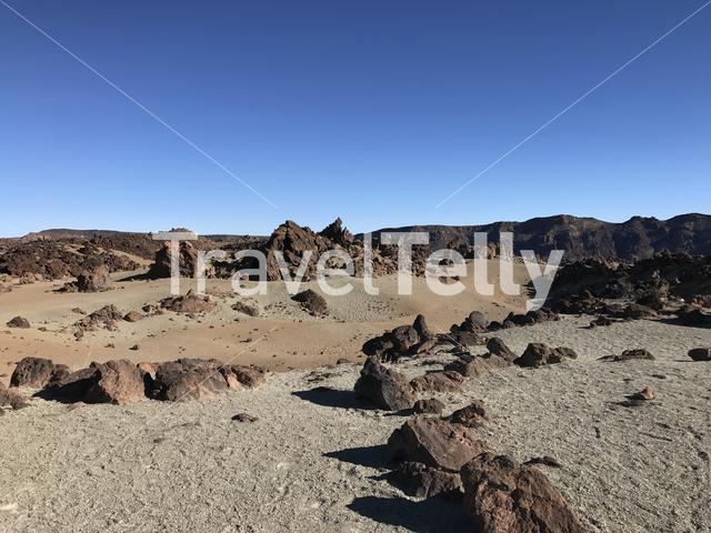 Landscape around Mount Teide a volcano on Tenerife in the Canary Islands
