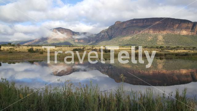 Mountain range at Entabeni Nature Reserve in South Africa