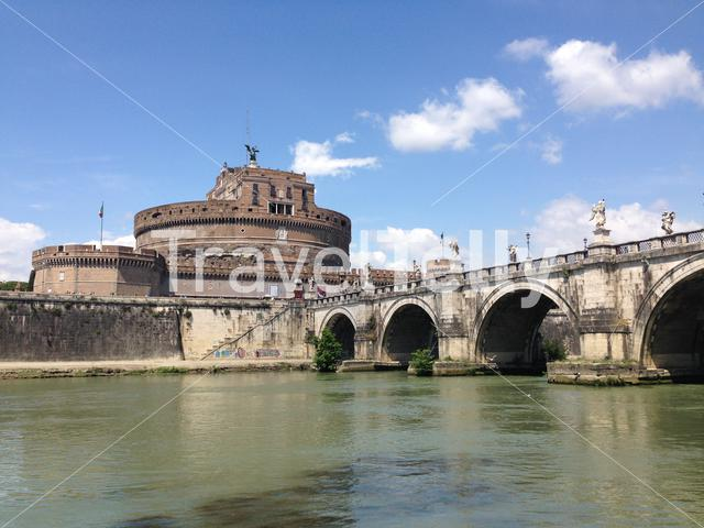 Castel Sant'Angelo, is a towering cylindrical building in Parco Adriano, Rome, Italy