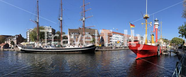Panorama from the dock in Emden