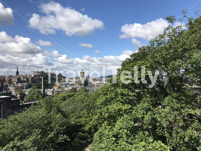 View from Calton Hill in Edinburgh Scotland