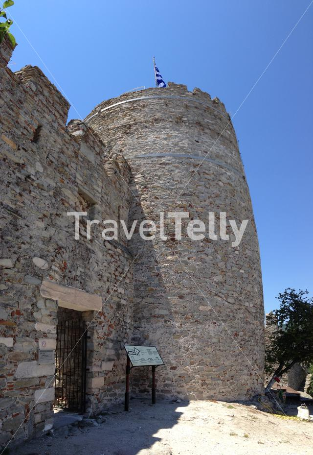 The tower of Akropoli Kavalas in Kavala Greece