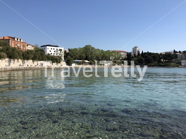 Bacvice beach in Split Croatia