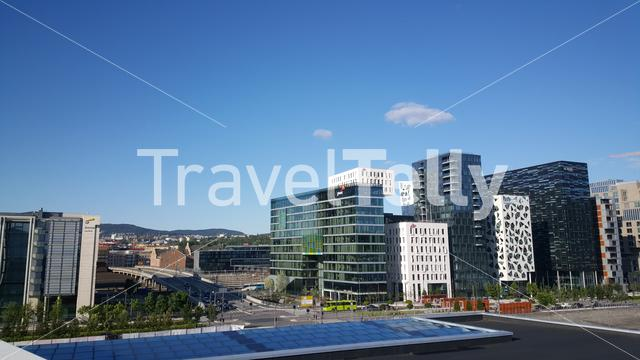 View from the Oslo Opera House in Norway