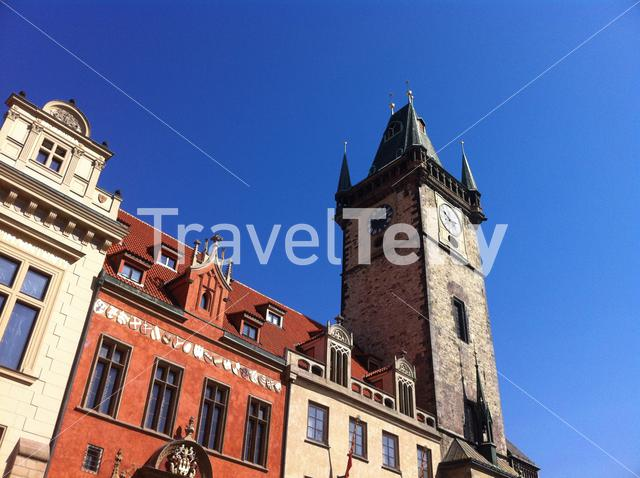 Tower with the Astronomical Clock in Prague Czech Republic