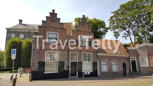 Old city prison guards houses in Enkhuizen