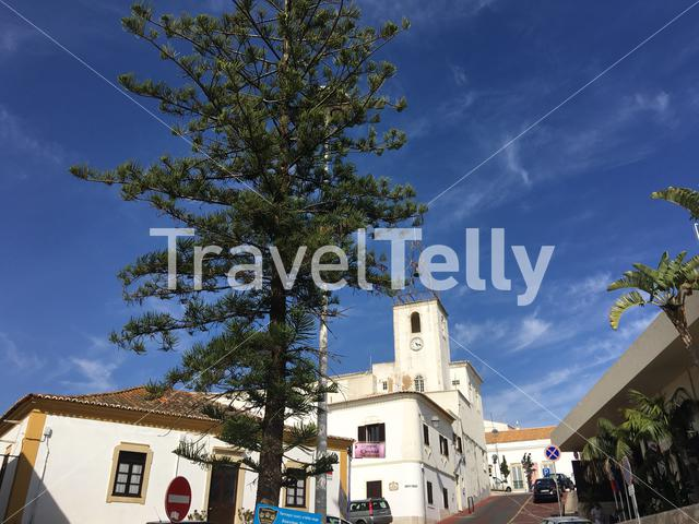 Church in the Old town in Albufeira Portugal
