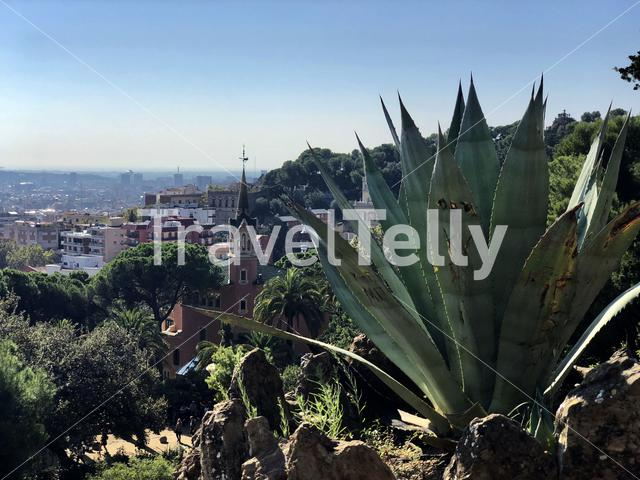 View from Park Güell in Barcelona Spain