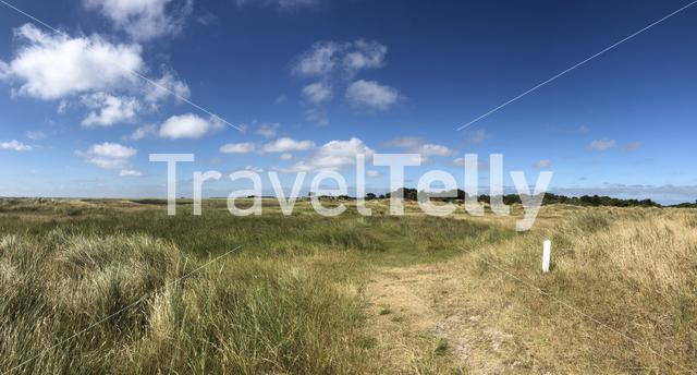 Panoramic landscape from Schiermonnikoog in Friesland, The Netherlands