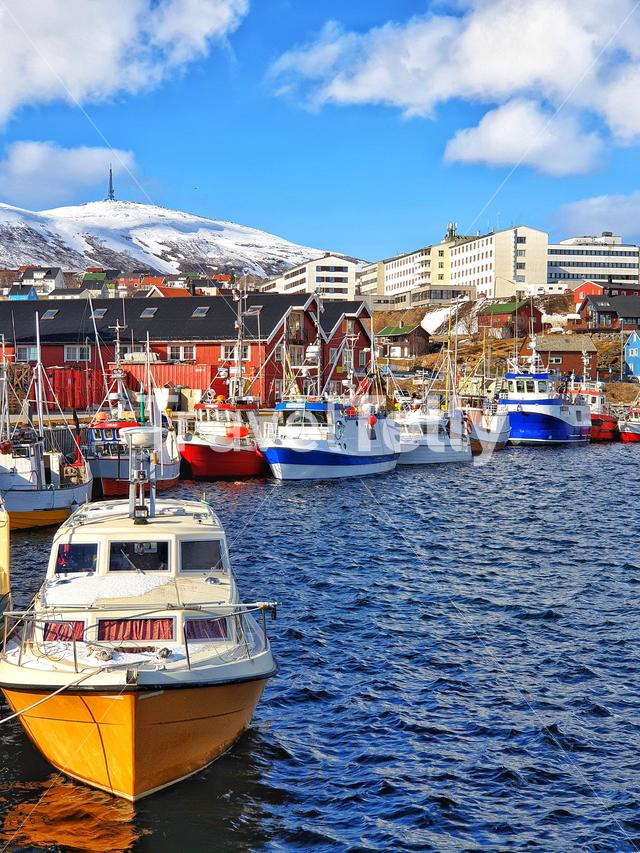 Fishing boats and ship in Hammerfest