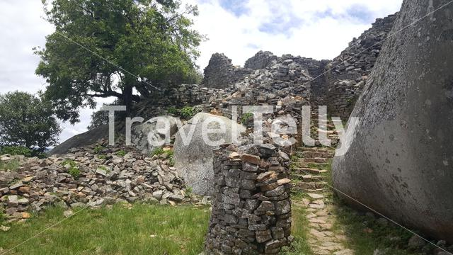 Stairs at the ruins of Great Zimbabwe