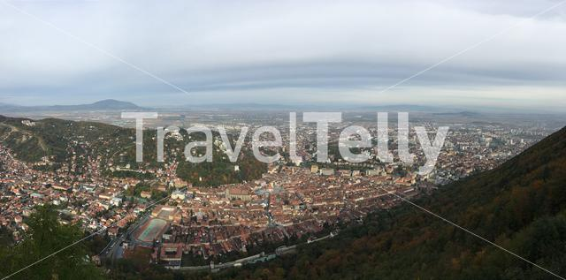 Panarama view from mount tampa over Brasov Romania
