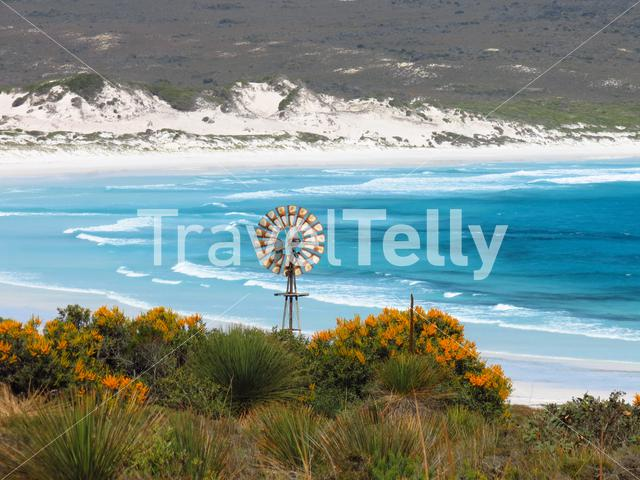 Old windmill at Lucky Bay beach at Cape Le Grand National Park Australia
