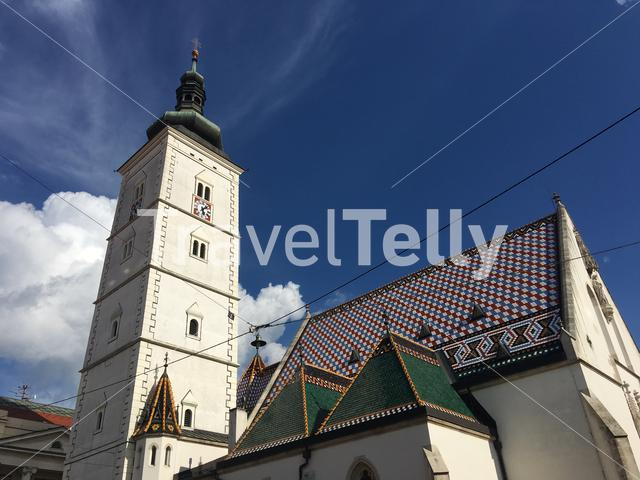 The St. Mark's Church in the old town of Zagreb Croatia