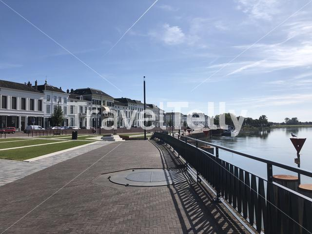 Boulevard along the IJssel river in Zutphen, Gelderland The Netherlands